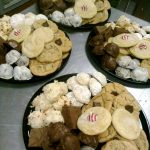 3 trays of assorted cookies